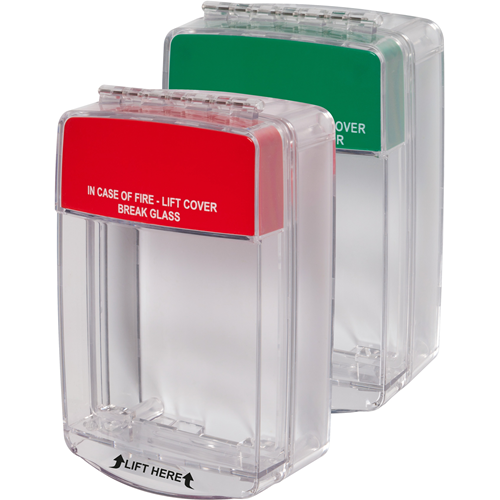 STI Euro Stopper STI-15C20ML Security Cover for Alarm System - Polycarbonate - Red, Green