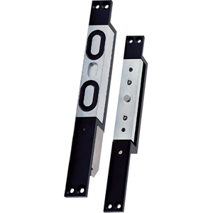 Diax SHL1200 Single Door Magnetic Lock - 1200 kg Holding Force - Stainless Steel - Monitored, Fail Safe