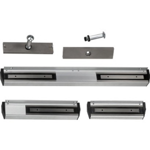 Magnetic Solutions MS15 Single Door Magnetic Lock - 300 kg Holding Force - Satin Anodized Aluminum