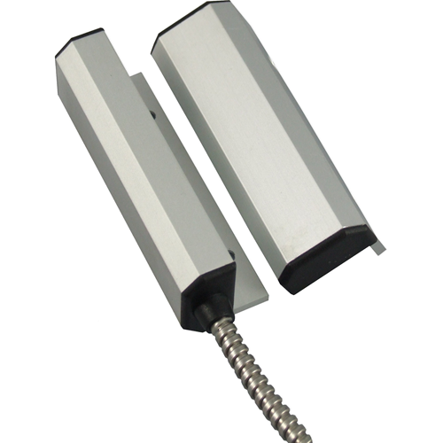 CQR GP001 Cable Magnetic Contact - SPST (N.O.) - 30 mm Gap - For Door - Brushed Aluminium