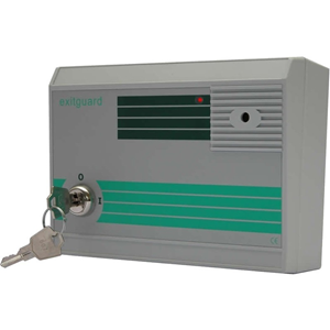 Hoyles Exitguard Security Alarm - 14 V DC - 105 dB - Visual, Audible - Red, Green
