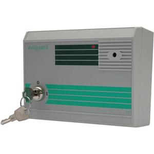 Hoyles Exitguard EX106G Security Alarm - 240 V AC - 105 dB - Audible, Visual - Red, Green