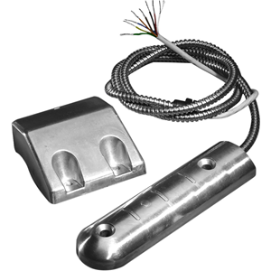 Knight Fire & Security YF10C Cable Magnetic Contact - 35 mm Gap - For Double Door, Roller Shutter - Surface Mount - Silver