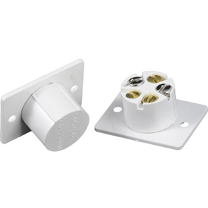 CQR FC505 Cable Magnetic Contact - SPST (N.O.) - 23 mm Gap - For Door - Flush Mount - White