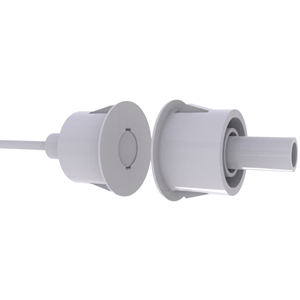 CQR FC620 Cable Magnetic Contact - SPST (N.O.) - 15 mm Gap - For Door - Flush Mount - White