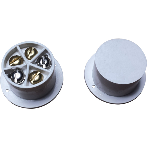 Knight Fire & Security A50 Cable Magnetic Contact - 14 mm Gap - Flush Mount - White