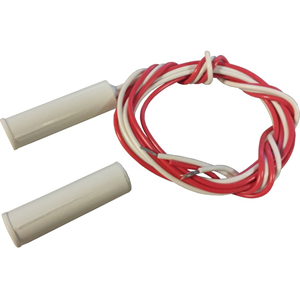 Knight Fire & Security C30 Cable Magnetic Contact - 15 mm Gap - For Door, Window - Flush Mount - White