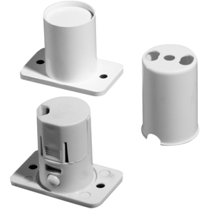 Knight Fire & Security XA41MULTI Cable Magnetic Contact - 14 mm Gap - For Double Door - Flush Mount - White