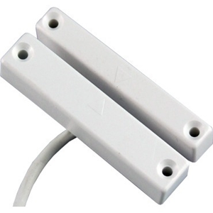 CQR SC513 Cable Magnetic Contact - SPST (N.O.) - 10 mm Gap - For Door - Surface Mount - White