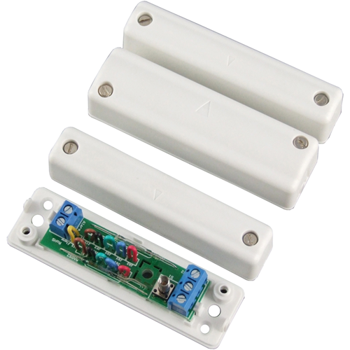 CQR SC570 Magnetic Contact - SPST (N.O.) - 12 mm Gap - For Double Door - Surface Mount - White