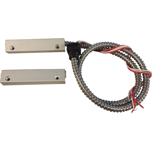 Knight Fire & Security E92 Cable Magnetic Contact - 35 mm Gap - For Roller Shutter - Surface Mount - Silver Aluminium