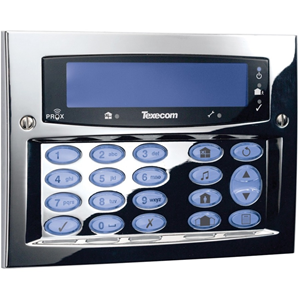 Texecom Premier Elite Security Keypad - For Control Panel - Polished Chrome