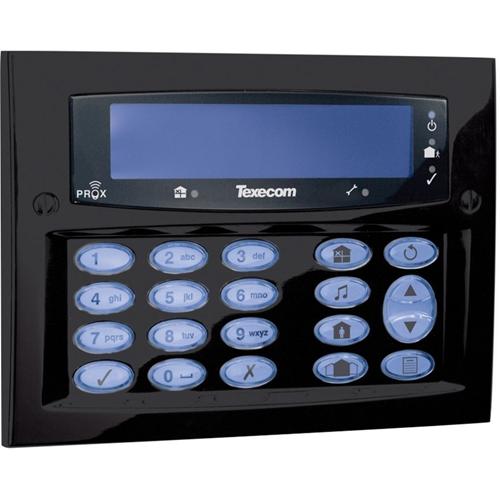 Texecom Premier Elite Security Keypad - For Control Panel - Diamond Black