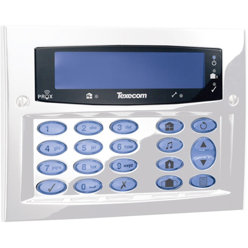 Texecom Premier Elite Security Keypad - For Control Panel - Diamond White