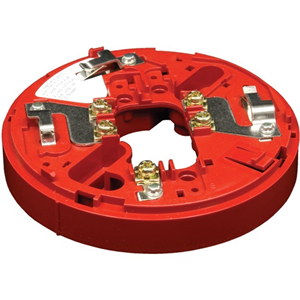 Hochiki YBO-R/3 Addressable Sounder Base for Sounder - ABS, Stainless Steel - Red