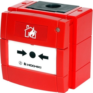 Hochiki HCP-W(SCI) Manual Call Point For Fire Alarm - Red - Polyphenylene Oxide