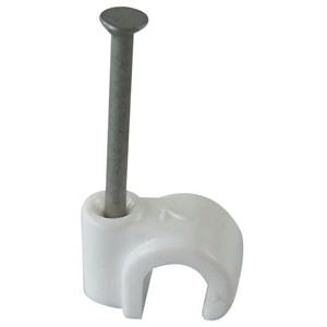 FM Products Cable Guide - White - 1000 Pack - Cable Clip - Polypropylene, Steel
