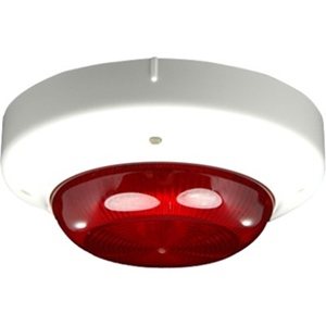 Hochiki Security Strobe Light - 41 V DC - Visual - Red, Ivory