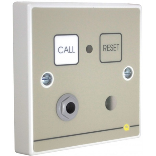 C-TEC Quantec Push Button/Manual Call Point For Alarm - Single Gang - Plastic