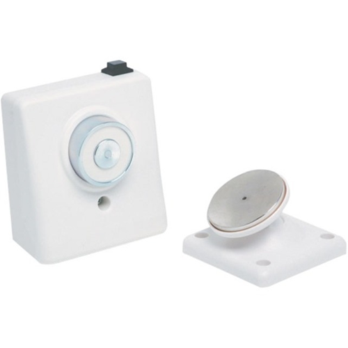 Vimpex Electromagnetic Door Holder - Surface Mountable - Wall Mountable, Flame Retardant, Release Button