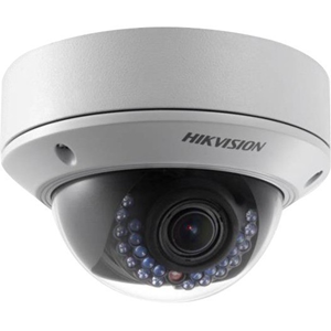 Hikvision EasyIP 2.0 DS-2CD2742FWD-IS 4 Megapixel Network Camera - Colour - 30 m Night Vision - H.264+, Motion JPEG, H.264 - 2688 x 1520 - 2.80 mm - 12 mm - 4.3x Optical - CMOS - Cable - Dome - Wall Mount, Ceiling Mount, Junction Box Mount