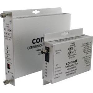 ComNet Transceiver/Media Converter - 1 Port(s) - 1 x ST - Optical Fiber - Multi-mode Fiber - 4 km - Rail-mountable, Rack-mountable