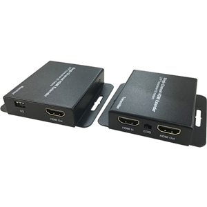 Dahua PFM700-E Video Extender Transmitter/Receiver - Wired - Black - 1 Input Device - 1 Output Device - 60 m Range - 2 x Network (RJ-45) - 1 x HDMI In - 2 x HDMI Out - 1920 x 1080 Video Resolution - Full HD - Twisted Pair - Category 6