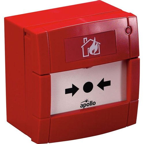Apollo Conventional Manual Call Point For Indoor - Red - Polycarbonate, Acrylonitrile Butadiene Styrene (ABS)