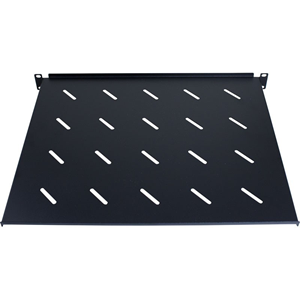 RackyRax 1U Rack-mountable Rack Shelf for Server, LAN Switch, Patch Panel - Black Powder Coat - Mild Steel - 30 kg Maximum Weight Capacity