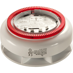 Apollo XPander Light Indicator/Sounder - Wireless - 4.5 V DC - 87 dB - Audible, Visual - Ceiling Mountable - Red