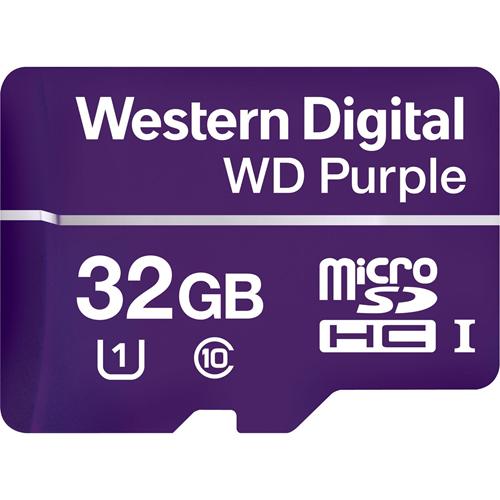 WD Purple WDD032G1P0A 32 GB Class 10/UHS-I (U1) microSDHC - 100 MB/s Read - 60 MB/s Write