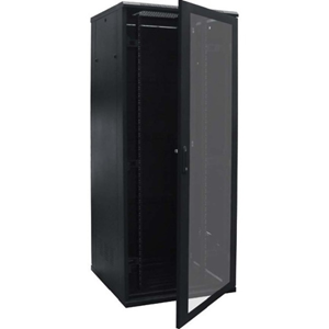 Connectix RR-F1-24-P 24U High x 482.60 mm Wide Floor Standing Rack Cabinet for LAN Switch, Patch Panel - 800 kg x Static/Stationary Weight Capacity