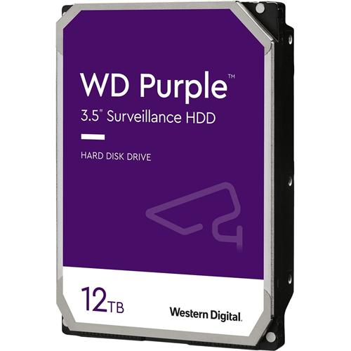 """WD Purple WD121PURZ 12 TB Hard Drive - 3.5"""" Internal - SATA (SATA/600) - 7200rpm - 256 MB Buffer"""