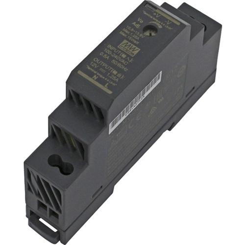 VIDEX HDR-15-12 Power Supply - 85% Efficiency - 15 W - 120 V AC, 230 V AC Input Voltage - 12 V DC Output Voltage - DIN Rail