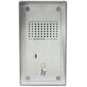 Aiphone Intercom Sub Station - for Door Entry - Brushed Stainless Steel - Surface Mount