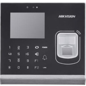 Hikvision DS-K1T201MF Biometric/Card Reader/Keypad Access Device - Door - Fingerprint, Key Code, Proximity - 100000 User(s) - Fast Ethernet - Wireless LAN - Serial - 12 V DC