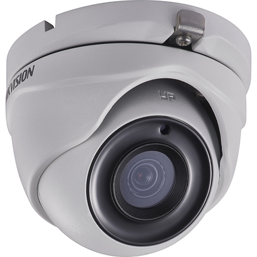 Hikvision DS-2CE56H0T-ITMF 5 Megapixel Surveillance Camera - Monochrome, Colour - 20 m Night Vision - 2560 x 1944 - 3.60 mm - CMOS - Cable - Turret - Junction Box Mount, Corner Mount, Pole Mount, Wall Mount