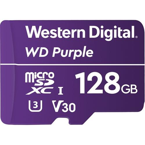 WD Purple WDD128G1P0A 128 GB Class 10/UHS-III (U3) microSDXC - 100 MB/s Read - 60 MB/s Write