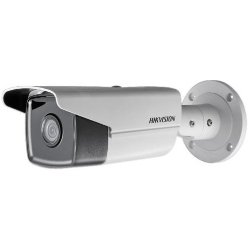 Hikvision EasyIP 3.0 DS-2CD2T45FWD-I5 4 Megapixel Network Camera - Colour - 50 m Night Vision - H.265+, Motion JPEG, H.264, H.264+, H.265 - 2688 x 1520 - 4 mm - CMOS - Cable - Bullet - Junction Box Mount