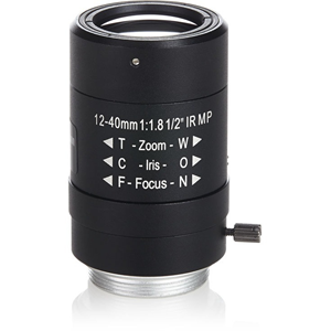 Arecont Vision - 12 mm to 40 mm - f/1.8 - Zoom Lens for CS Mount - Designed for Surveillance Camera - 3.3x Optical Zoom - 33 mmDiameter