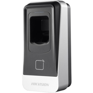 Hikvision DS-K1201MF Biometric/Card Reader Access Device - Door - Proximity, Fingerprint - 10 mm Operating Range - Serial - 12 V DC - Surface Mount