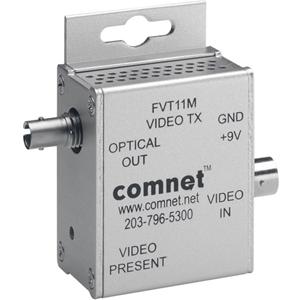 Comnet FVT11M Video Extender Transmitter - Wired - 1 Input Device - 1 Output Device - 4 km Range - Rack-mountable