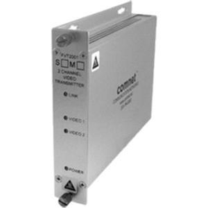 Comnet FVT2001M1 Video Extender Transmitter - Wired - 2 Input Device - 3 km Range - Optical Fiber - Rack-mountable, Wall Mountable