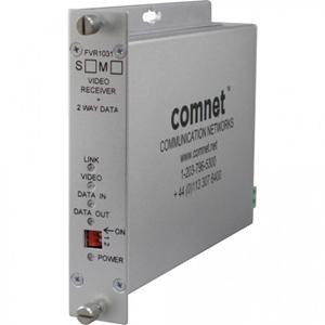 Comnet FVR1031M1 Audio Extender Transmitter - Wired - 3 km Range - Optical Fiber - Rack-mountable