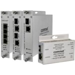 Comnet Transceiver/Media Converter - 1 Port(s) - 1 x Network (RJ-45) - Twisted Pair, Optical Fiber - Single-mode, Multi-mode Fiber - Gigabit Ethernet - 10/100/1000Base-T, 1000Base-X - 120 km - 1 x Expansion Slots - 1 SFP Slots - Standalone