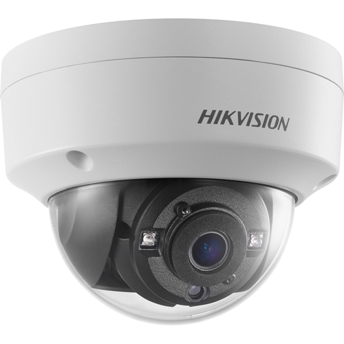 Hikvision DS-2CE56H0T-VPITF 5 Megapixel Surveillance Camera - Colour - 20 m Night Vision - 2560 x 1944 - 2.80 mm - CMOS - Cable - Dome - Ceiling Mount, Pendant Mount, Wall Mount, Junction Box Mount, Pole Mount