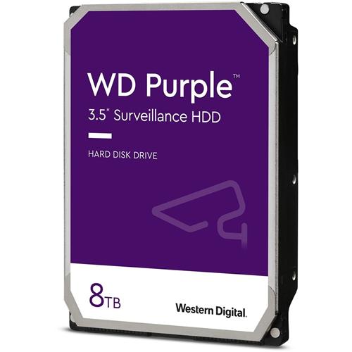 """WD Purple WD82PURZ 8 TB Hard Drive - 3.5"""" Internal - SATA (SATA/600) - 7200rpm - 256 MB Buffer - 3 Year Warranty"""