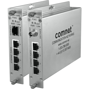 Comnet CopperLine CLFE4+1SMSPOEU 5 Ports Manageable Ethernet Switch - 2 Layer Supported - Twisted Pair - Desktop, Rack-mountable, Rail-mountable, Surface Mount, Wall Mountable - Lifetime Limited Warranty