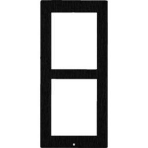 2N Faceplate - Brushed Steel - Black - Surface Mount