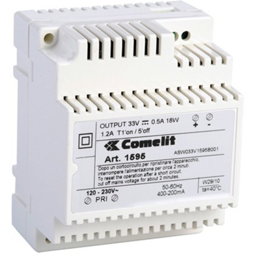 Comelit 1595 Proprietary Power Supply - DIN Rail - 33 V DC Output